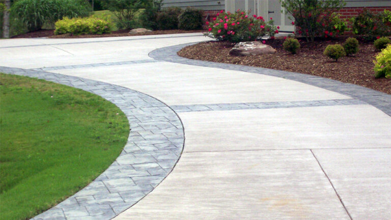 concrete driveway finishes
